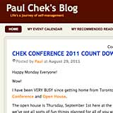 Paul<br />Chek's<br />Blog<br /><br /><font size=1 font-family=tahoma font color=#fa67261>the social hub for all things CHEK</font>